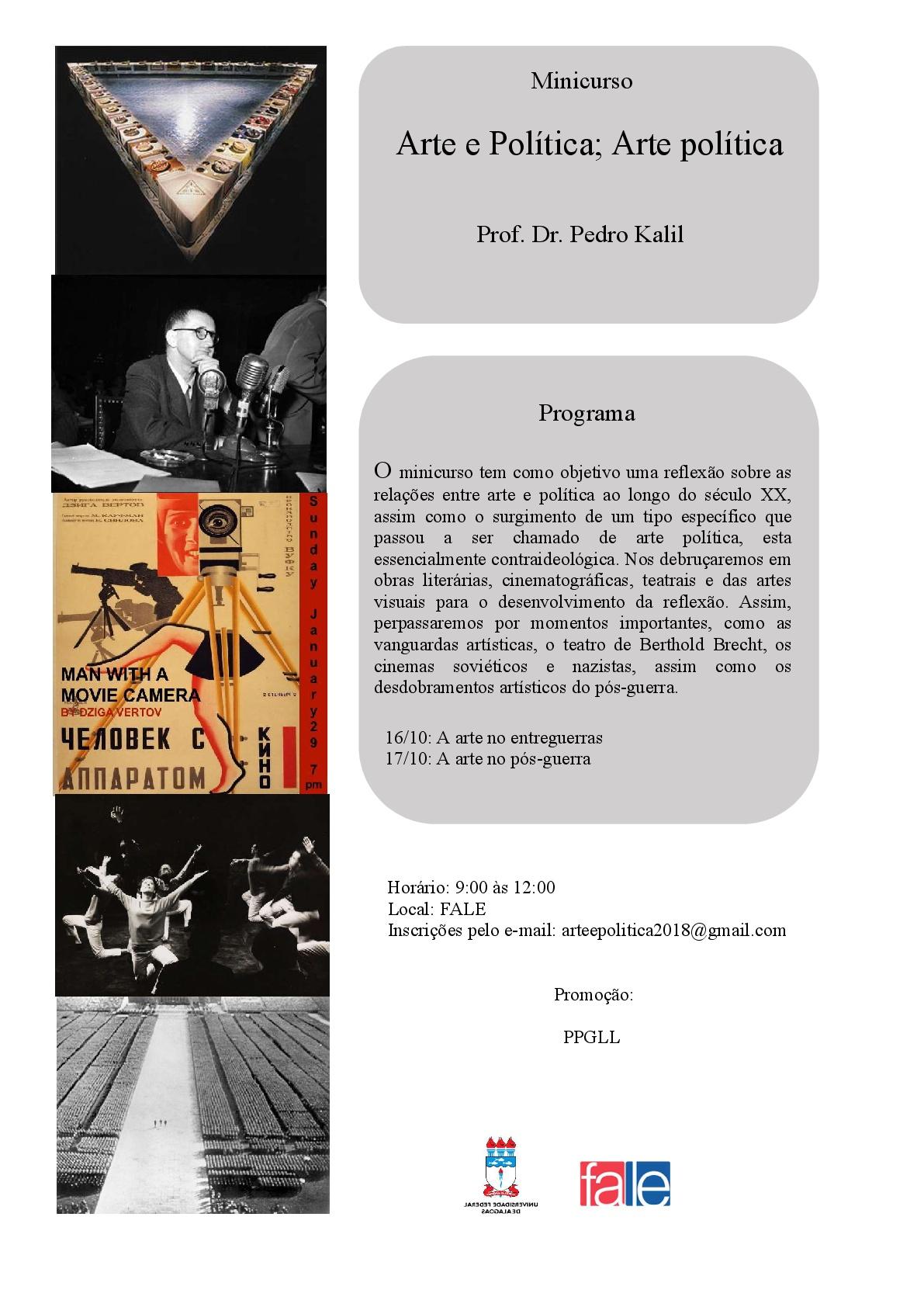 Minicurso Arte e política; Arte política